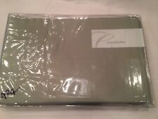 "Charisma Floriane Pacific Taupe Cotton Queen Bedskirt Bed Skirt 18"" Drop Nip"