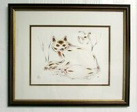 EDDY COBINESS Lithograph Art 4-Color RED FOX Framed Matted Ltd Ed 59/400 N16