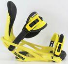 Technine Blaster Snowboard Bindings Mens Medium (US 7-9) Black / Yellow New 2021