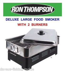 RON THOMPSON DELUXE LARGE FOOD SMOKER MEAT FISH POULTRY COOKER OVEN BBQ CAMPING