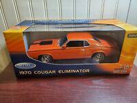 Welly 1970 Mercury Cougar Eliminator 1:18 Scale Diecast Car New Custom Wheels