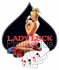 Pinup Girl Lady Luck Spade Waterslide Decal Sticker S224 by Pinupsplus
