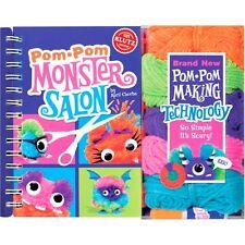 POM POM MONSTER SALON - KIDS MAKE YOUR OWN MONSTERS KLUTZ YARN CRAFT KIT & BOOK