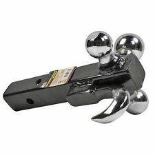 """3 in 1 Triple Tri Receiver Ball Mount with Hook Truck Trailer Tow  2"""" 2-5/16"""""""