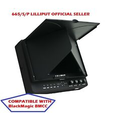 LILLIPUT 7'' 665/S/P SDI HDMI 1024X600 LP-E6 Battery + sunhood BlackMagic BMCC