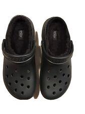 Crocs Classic Clog Fur Lined  Black Unisex Mens 8 Women's 10 NWT 203591 060