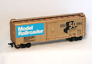 RTR HO Roundhouse 50' WC BOXCAR 1934-84 MODEL RAILROADER 50 Years Commemorative