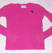 ABERCROMBIE KIDS-PINK SWEATER-XL 14 16 GIRLS-PULLOVER LONG SLEEVE TOP-& FITCH