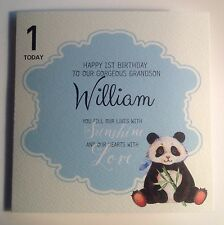 Personalised Watercolour Panda 1st Birthday Card Son Grandson Godson 2nd 3rd 4th