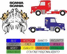 kit adesivi scania truck v8 tir saab camion colori a scelta stickers COD158