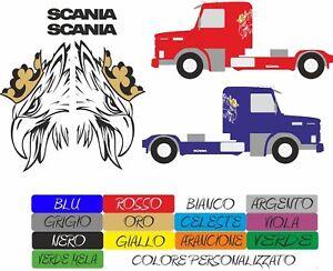 Kit de Pegatinas Scania Camión v8 Tir Saab Colores Elección Stickers COD158