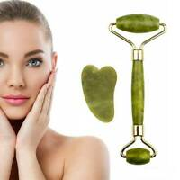 Jade Face Roller | Double Ended Facial Roller & Gua Sha Massage Tool Anti-Ageing