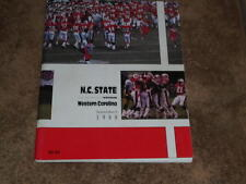 1988 WESTERN CAROLINA AT NC STATE COLLEGE COLLEGE FOOTBALL PROGRAM EX-MINT
