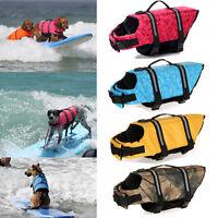 Dog Saver Life Jacket Vest Reflective Pet Preserver Aquatic Safety Size XS-XL US