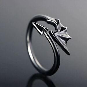 Dragon Ring Gothic Vampire Angel Devil - Uk Seller, fast shipping