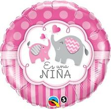 "Es Una Nina It's a Girl ELEPHANT 18"" Mylar BALLOON Baby Shower Party Decorations"