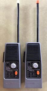 Vintage GE Walkie Talkies Set of 2 Model No. 3-5954A Working Condition Morse Cod