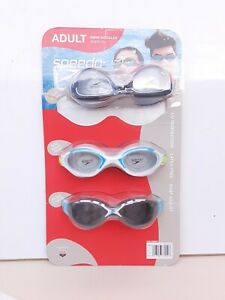 Speedo Adult Unisex 3-Pack Googles