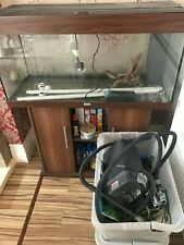 juwel fish tank complete with lighting and stand and accessories