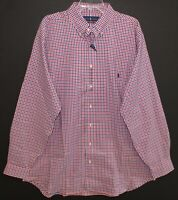 Polo Ralph Lauren Big & Tall Mens XLT Red Blue Checks Button-Front Shirt NWT XLT