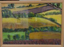 """BNS """"paysage"""" Gr. aquarelle, GER/verre, rg 55x89 CM (205/12008)"""