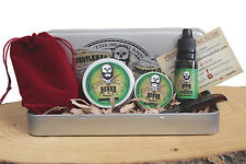 Beard Grooming Gift Set, Mustache Wax,Beard Balm, Oil,Comb - Eucalyptus Scent