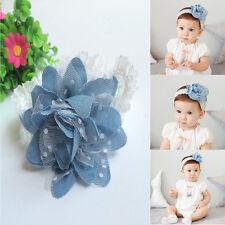 Lovely Elastic Baby Kids Girl Hair Band Infant Lace Flower Bow Headwear Headband