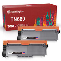 2PK TN660 High Yield Black Compatible For Brother TN630 Toner Cartridge Printer