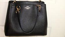 Womens Coach Black Leather Satchel  Crossbody Shoulder Bag Handbag Excellent !!!