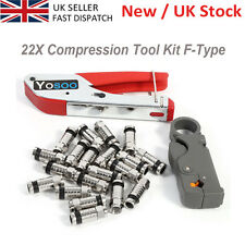 Compression Tool Kit F RG58 RG59 Connector Fitting Coaxial Crimper Cable Coax UK