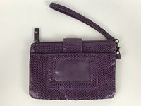 Kenneth Cole REACTION Purple Wristlet Wallet Purse (FP)