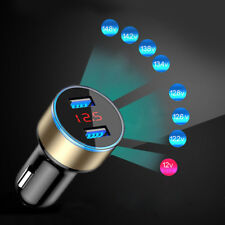 Dual Ports 3.1A USB Car Cigarette Charger Lighter Digital LED Voltmeter 12V/24V