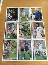 World Cup 1994 USA Upper Deck Football Trading Cards -9 x USA cards