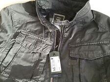 Camisa de hombre gstar Anson sobre Gris Oscuro Grande Nuevo Con Etiquetas
