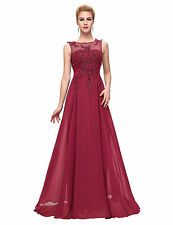 Women Long (Chiffon & Lace) Evening Formal Party Ball Gown Prom Bridesmaid Dress