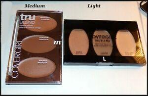 "NEW & SEALED Covergirl truBLEND Contour Palette LIGHT MEDIUM  FULL SIZE 4.5 X 3"""
