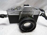 RARE Camera & Lens! Minolta SRT-100b Camera w/ 1:2 f=50mm rokkor-pf Lens