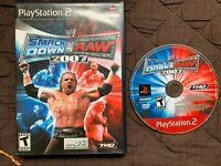 WWE SmackDown vs. Raw 2007 (Sony PlayStation 2, 2006) TESTED PS2
