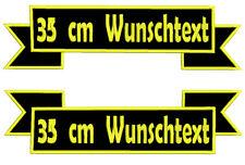 2x35 CM  Rückenpatch Aufnäher  oben unten set  Mit  Wunschtext Bestickt