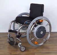 TiLite ZRA, E-Motion M15 power-assist titanium wheelchair, Frog Legs - #0084