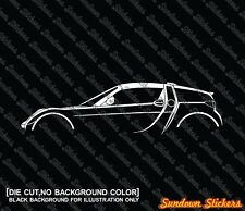 2x silhouette stickers aufkleber - for Smart Roadster Coupe (roof on)
