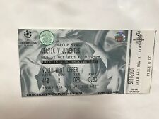 2001 Celtic v Juventus Italy  Champions League Famous 4-3 Match Ticket Scarce