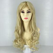 ladies girls fashion HM009 long wavy blonde 613 colour heat resistant up to 200c