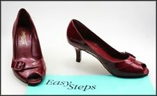Special Occasion Leather Open Toe Cuban Heels for Women