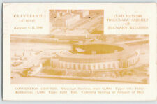 1946 JEHOVAH'S WITNESSES POSTCARD convention grounds MUNICIPAL STADIUM CLEVELAND