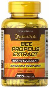 Puritan's Pride Bee Propolis 500 mg - 200 Capsules