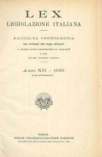 LEX - LEGISLAZIONE ITALIANA - 1926 - LUGLIO-DICEMBRE