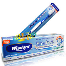 Wisdom Addis Smokers Extra Hard Toothbrush And Extra Fresh Mint Toothpaste 50ml