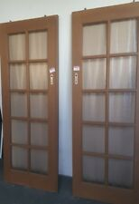 Wooden, double doors with glass design 0082