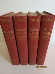 Kipling Review Of Reviews four books, Light that Failed, Departmental Ditties